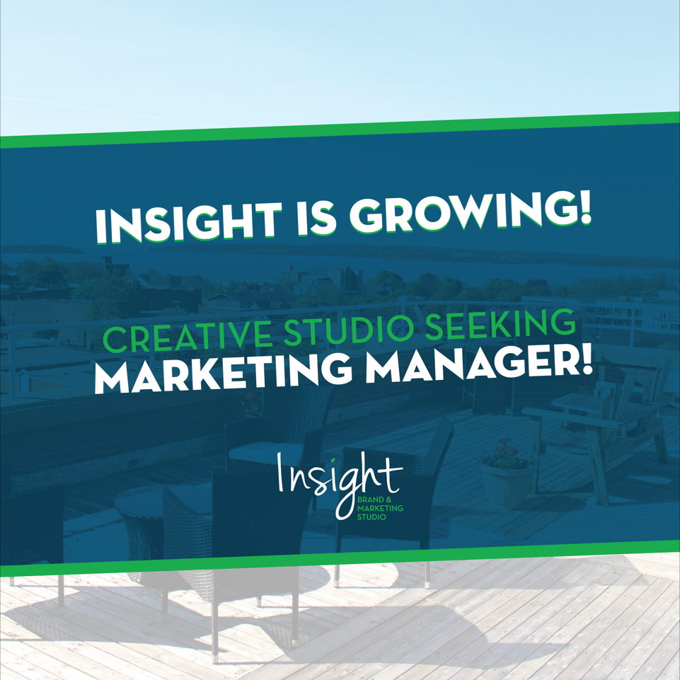 On the Hunt for a Marketing Manager! - Insight Brand & Marketing Studio